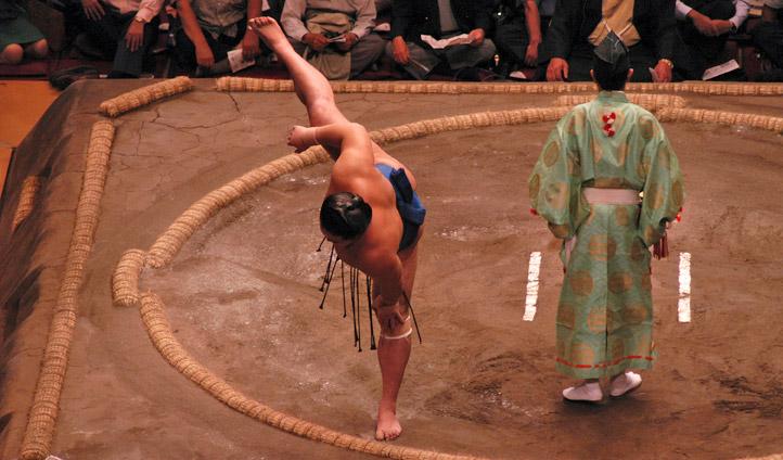 Sumo wrestling in Tokyo, Japan