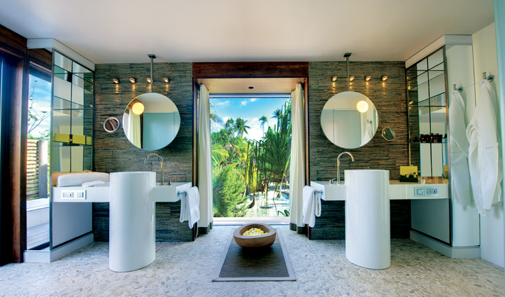 Stunning open bathrooms