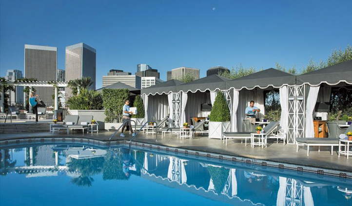 Relax by the pool at the Peninsula Beverly Hills