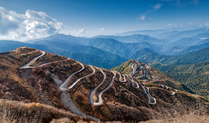 The old silk trading route between China and India