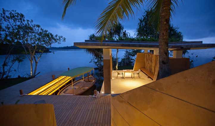 Dine down by your own private Jetty