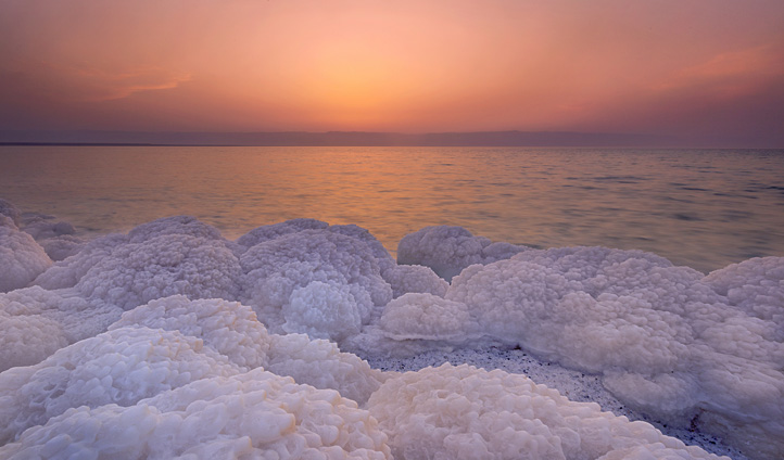 Sunset Scenary at the Dead Sea, Jordan