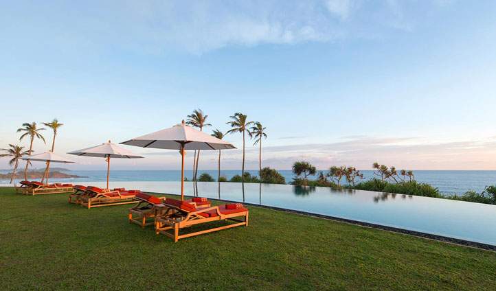 Bask in the Infinity pool at Cape Weligama