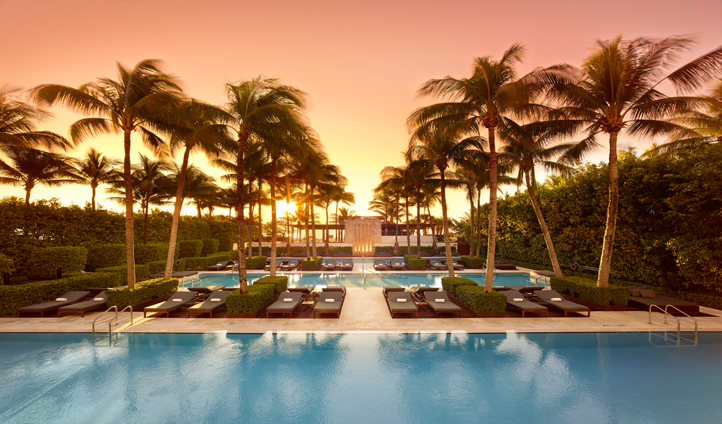 Savor the sunset out by the pool