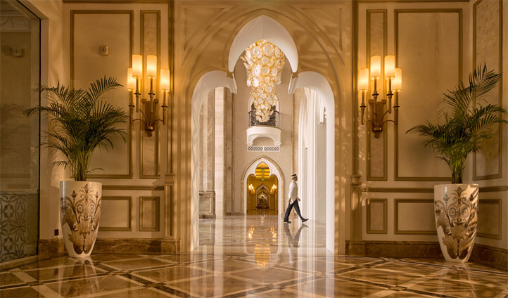 The lobby at The Kempinski, Doha, Qatar