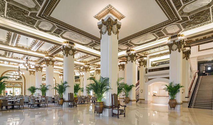 The Peninsula Hotel's lobby in Hong Kong