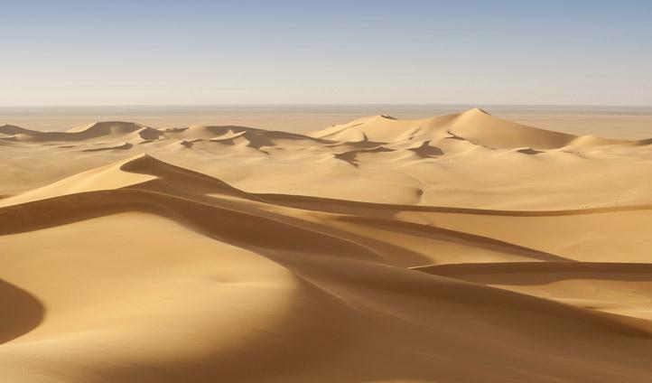 The sand dunes of Qatar