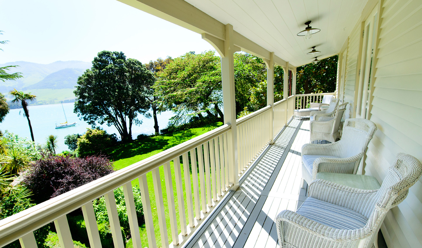 Step out of your bedroom onto a balcony basked in light