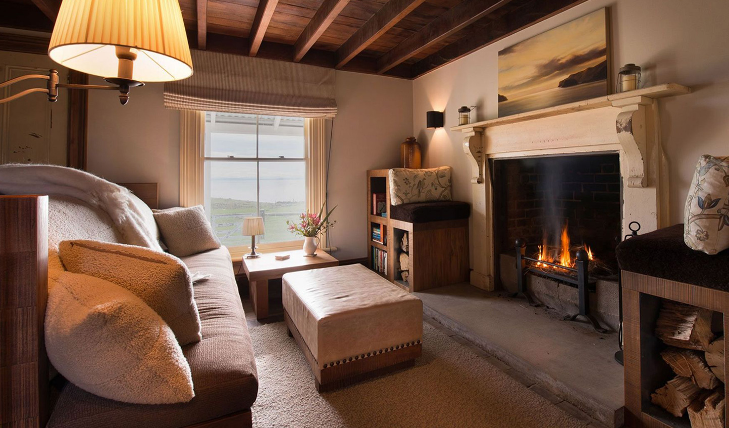 Wrap yourself up in sheepskin by the open fire