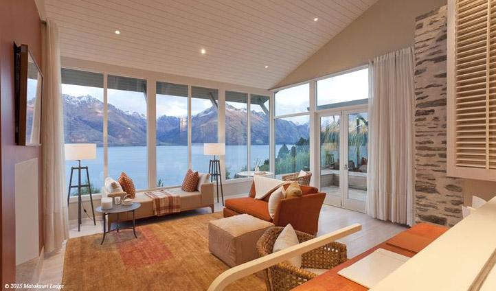 Lounge alongside mountain views