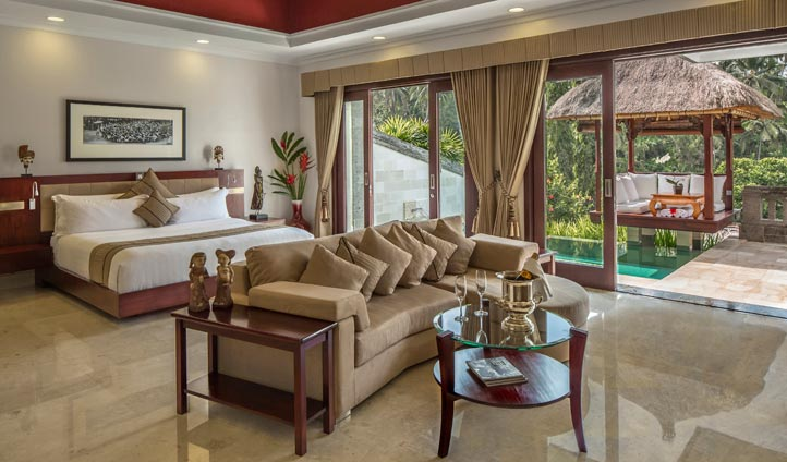Deluxue Terrace Villa interiors, The Viceroy Bali
