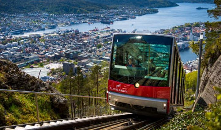 Catch the Fløibanen to the top of Mount Fløyen