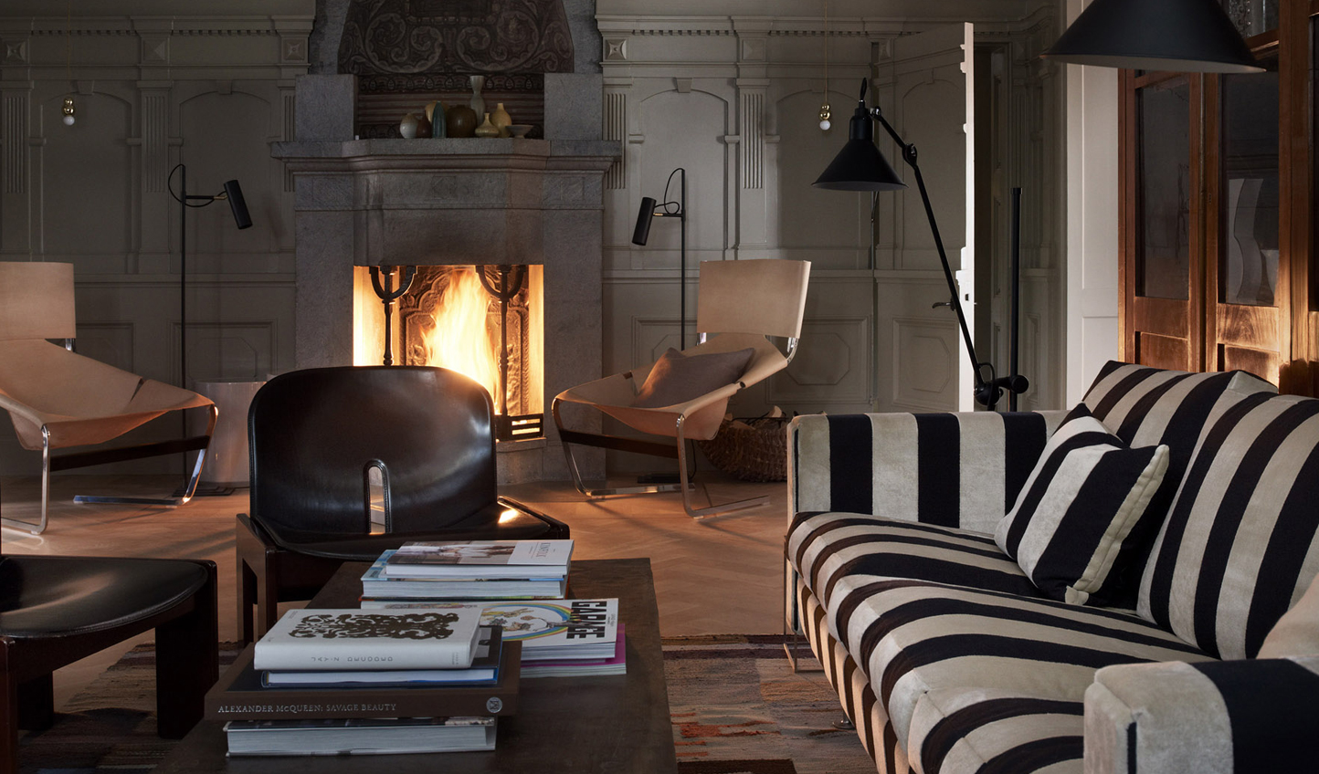... and an ideal winter reading spot.