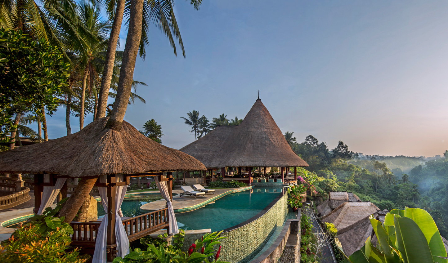 Relax into life at Viceroy Bali and soak in views over the valley from the comfort of the infinity pool