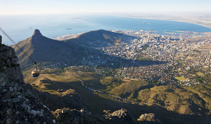 Aerial views from Table Mountain