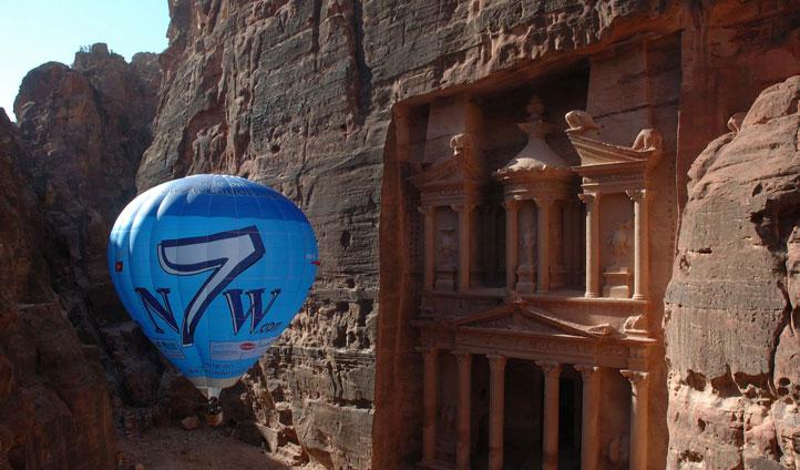 Balloon ride over Petra