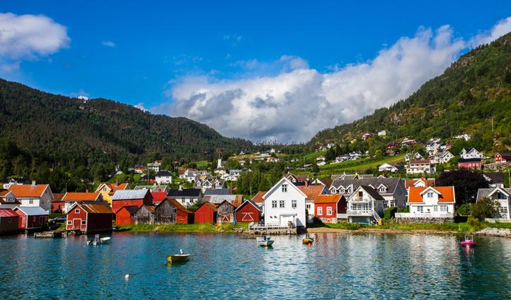 Bergen views over the ocean