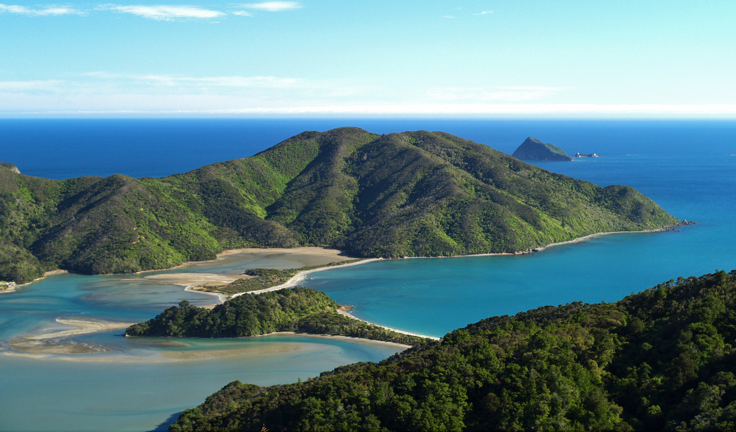 The unique landscapes of Marlborough Sounds