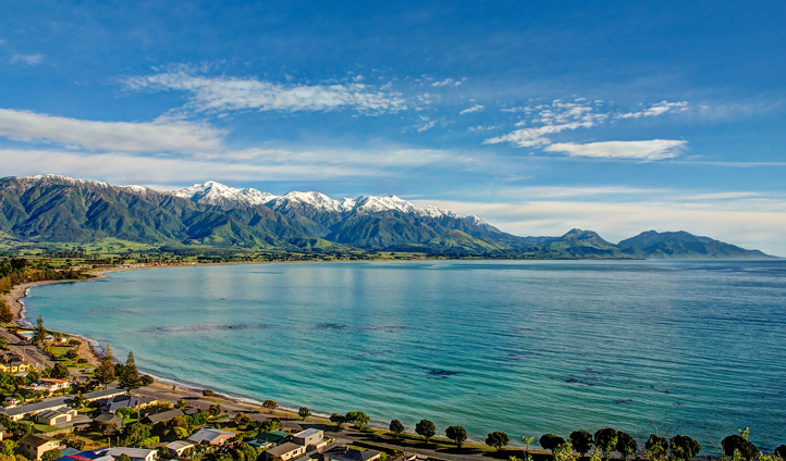 The beautiful Kaikoura Bay is on your doorstep