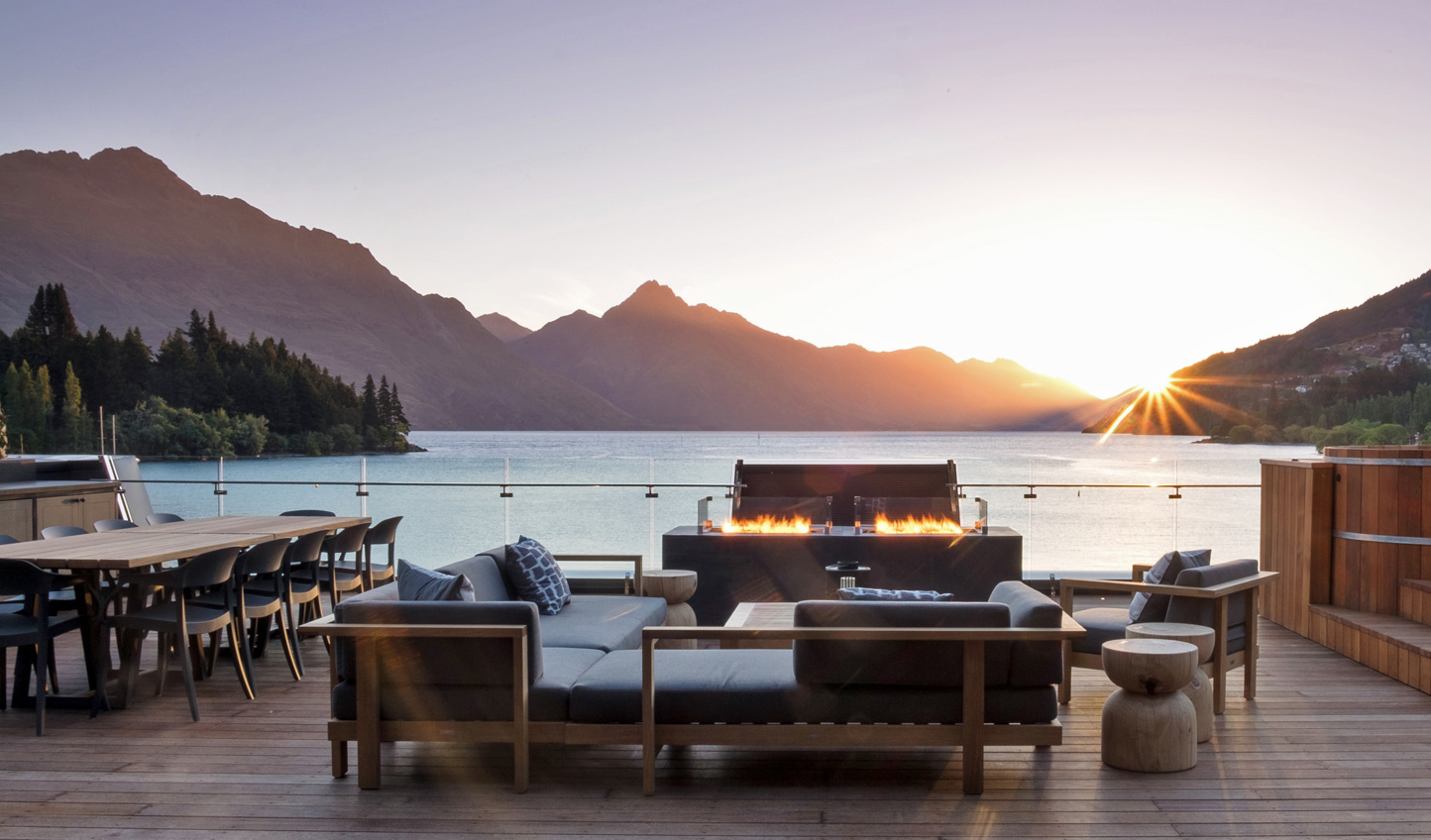 End each day with a glass of New Zealand wine overlooking spectacular landscapes