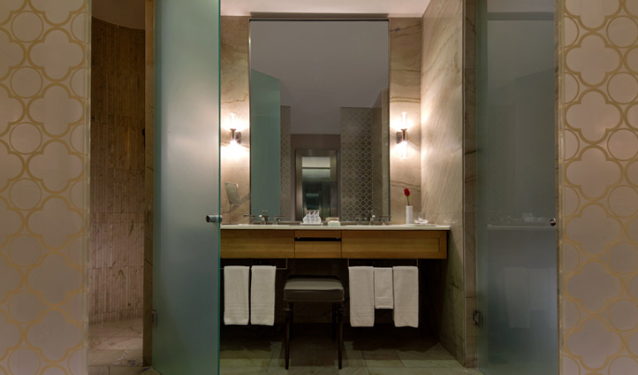 The marble opulence of your bathroom