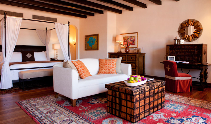 The spacious and colourful Presidential Suite