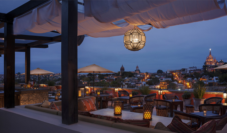 La Luna rooftop tapas bar offers guests spectacular views and cuisine combined