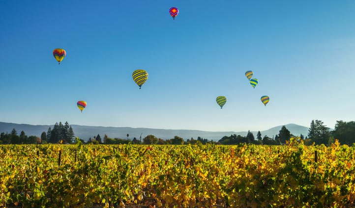 Hot air balloons in Napa Valley | Black Tomato