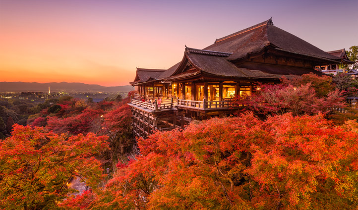 Sunset in Kyoto, Japan | Black Tomato