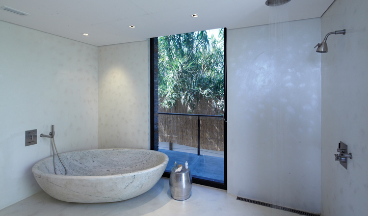 White and grey purity of your marble bathroom