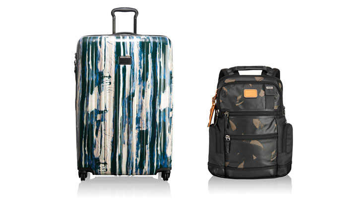 Arrive in style with TUMI's V3 Waterfall Stripe Packing Case & Alpha Bravo Knox Backpack