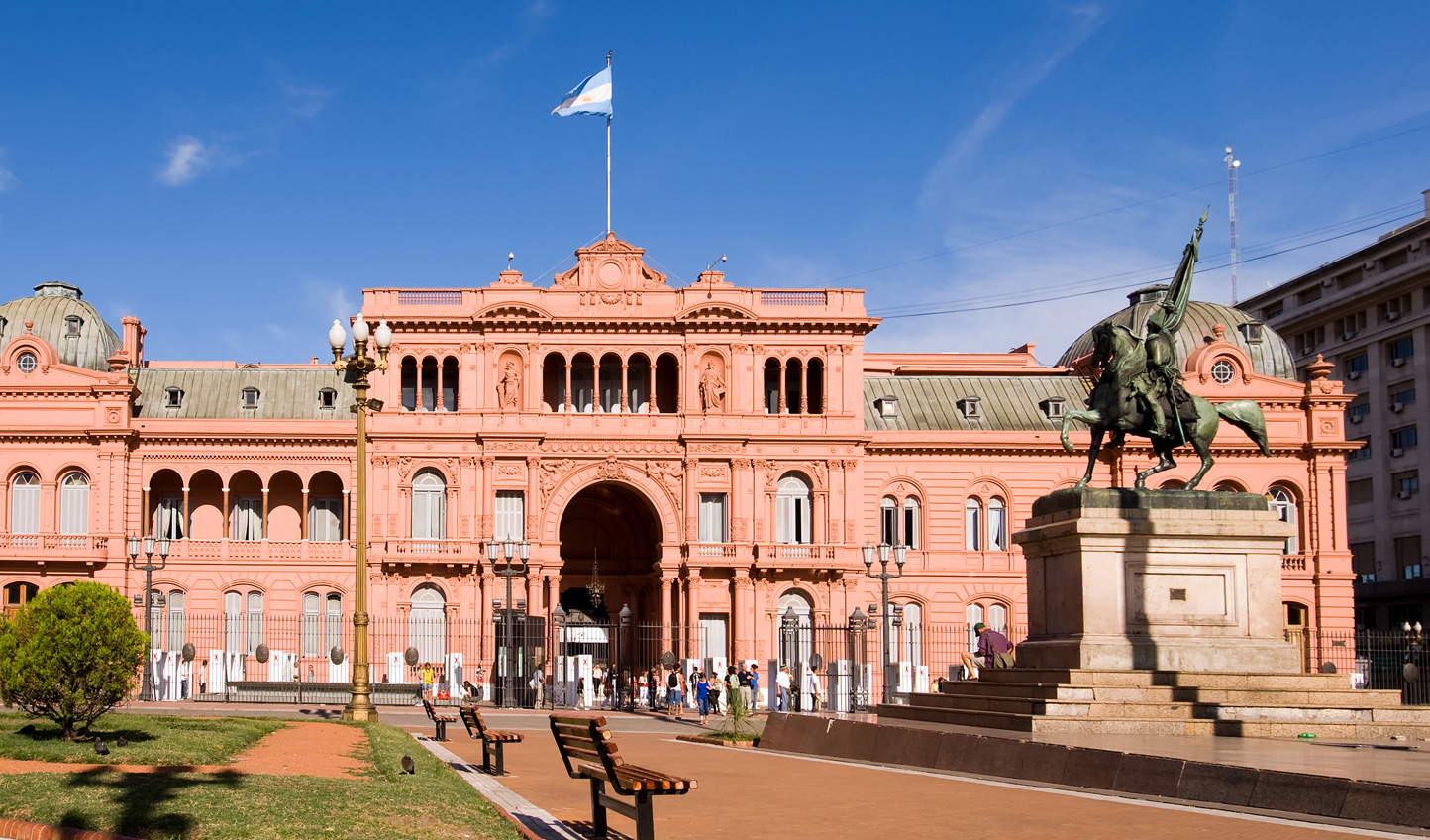 Head to Argentina's government building, La Casa Rosada