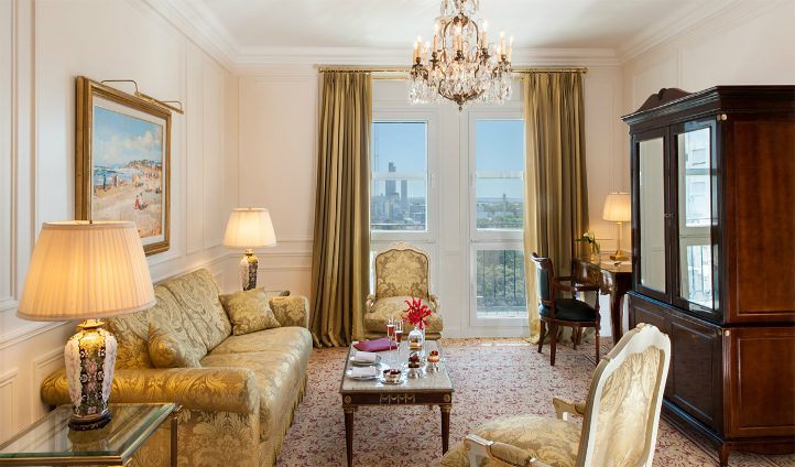 Enjoy a room with a view in the Deluxe Suite
