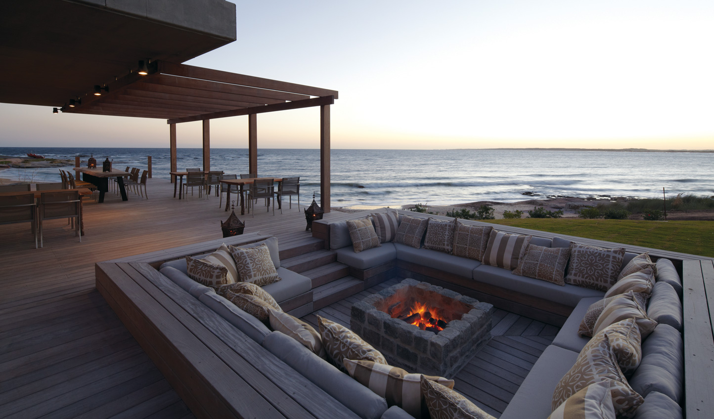 Gather around Playa Vik's firepit on a warm evening