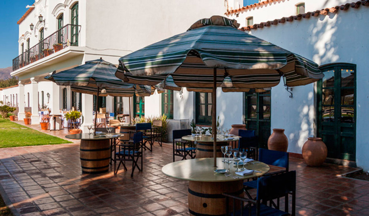 Enjoy a drink on the hotel's patio