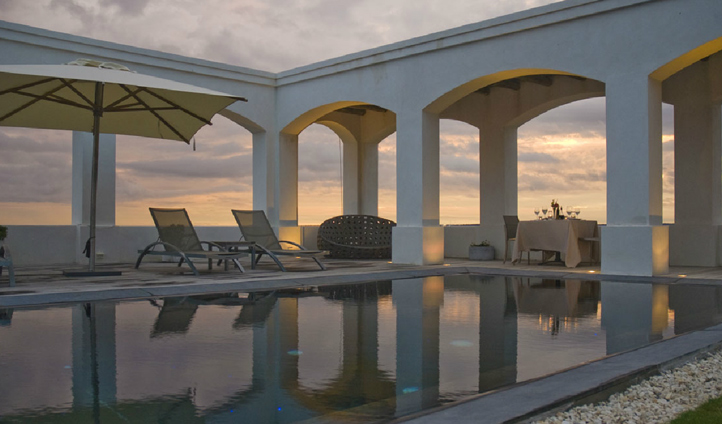Sample world-class South American wine at sunset poolside