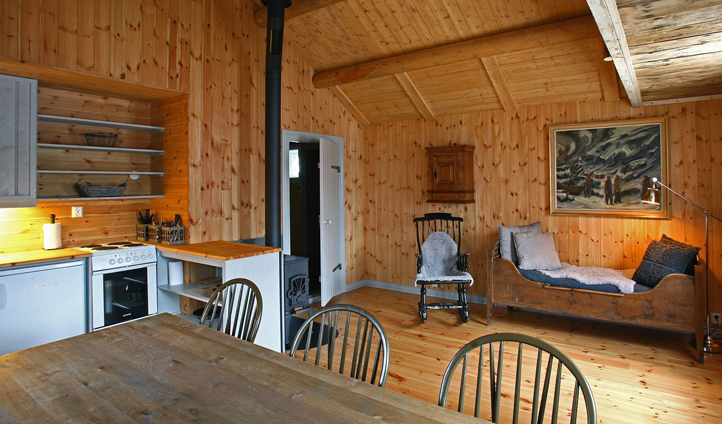 Your cosy wood cabin, complete with woodburner