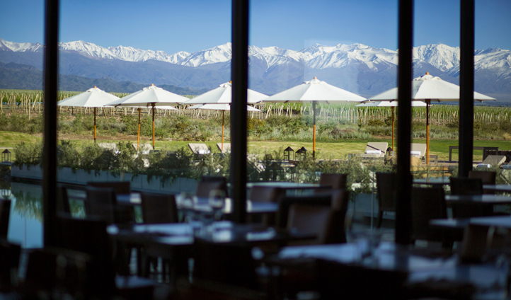 From the restaurant witness the mountains' majesty