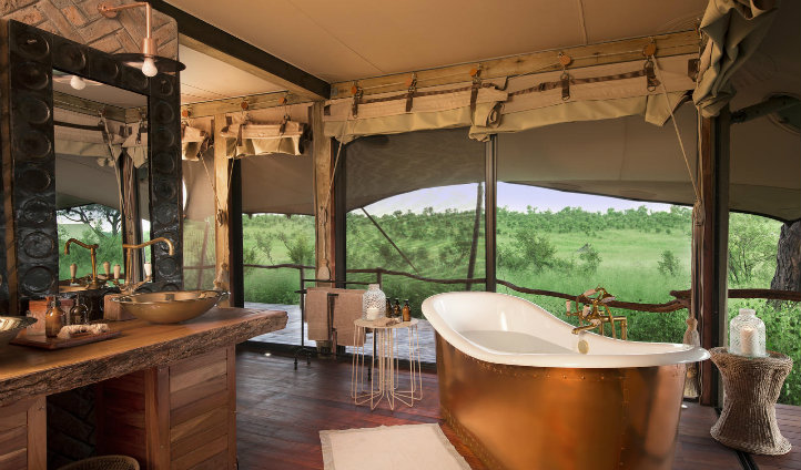 Soak up the view as you soak in the beautiful bathtub.