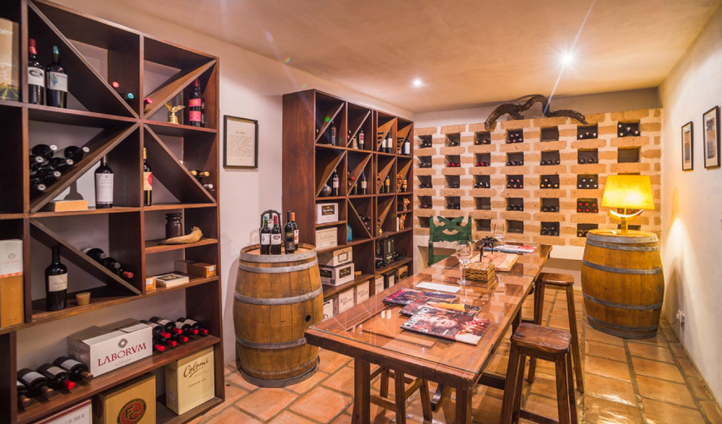 Try a wine or two in the hotel's prized cellar