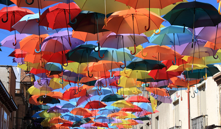 Umbrellas in Madrid
