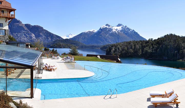 Take a dip in the pool at Llao Llao