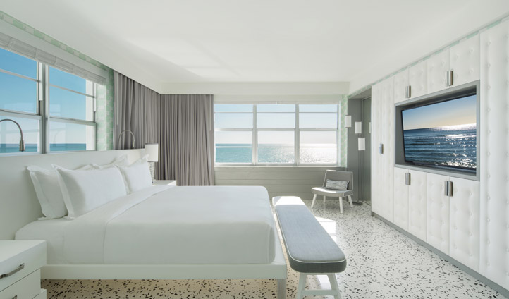 Bedroom at COMO Metropolitan Miami Beach