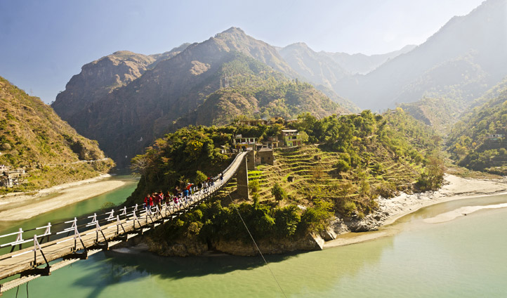 Beautiful bridge on the way to Gangtok Sikkim
