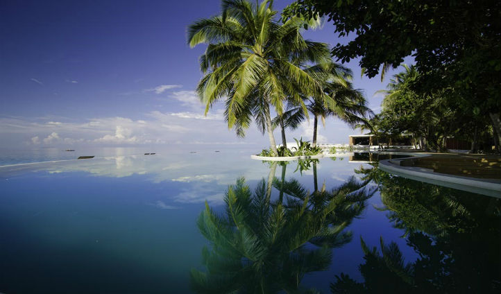Pool at the Amilla Fushi resort, Maldives
