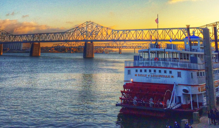 Take a river cruise together on the Belle of Louisville
