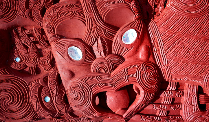 Maori carvings pay homage to New Zealand's fiery volcanoes
