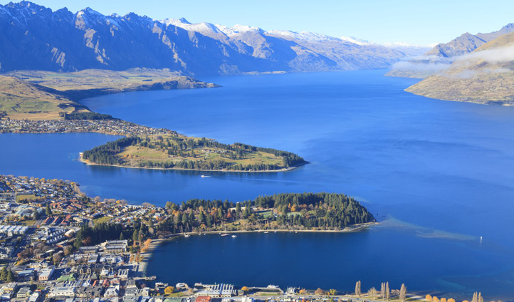 A city springs from the earth in Queenstown