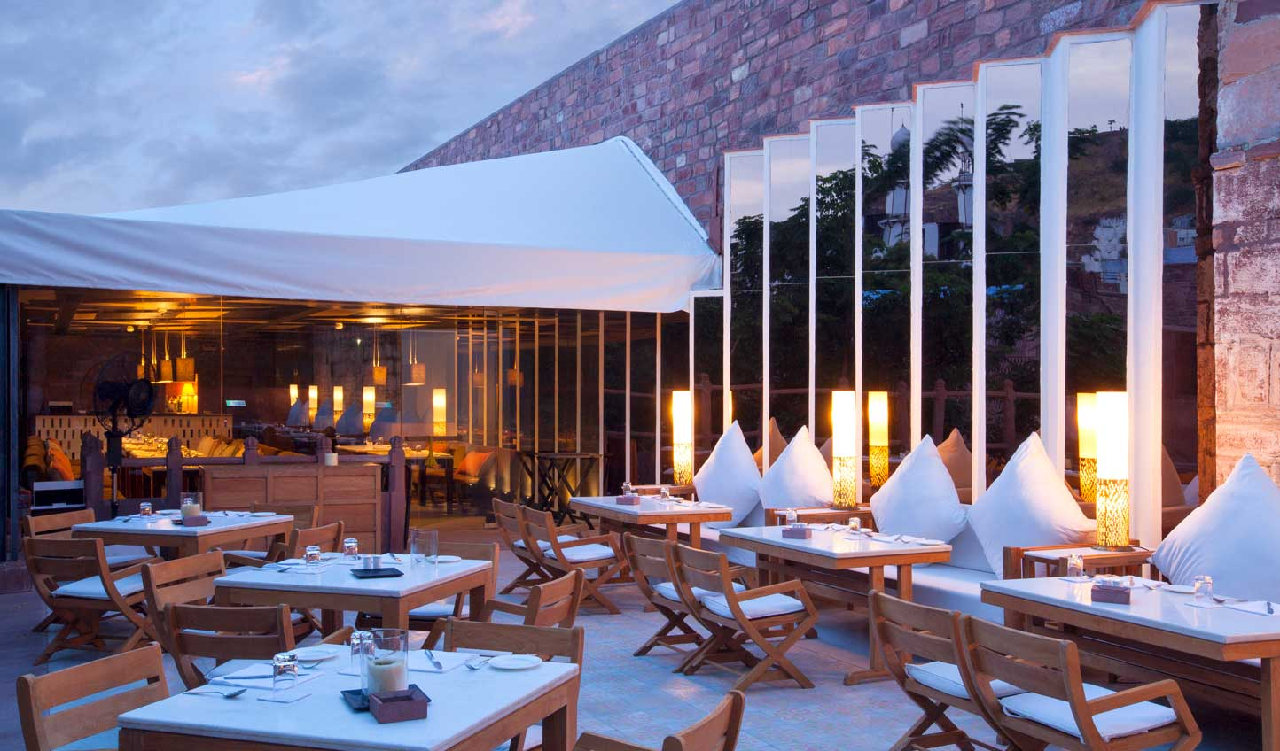 Dine beneath the stars at Raas Hotel