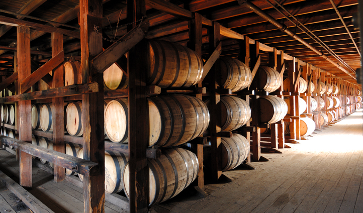 Kentucky's bourbon is aged to perfection